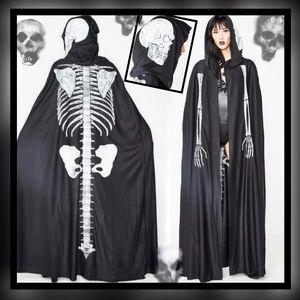 New! Unisex Crypt Keeper Skeleton Cloke